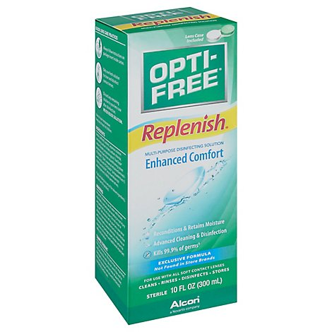 Opti Free Replenish Disinfecting Solution Multi-Purpose Enhanced Comfort - 10 Fl. Oz.