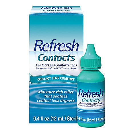 Refresh Contacts Contact Lens Comfort Drops - 0.4 Fl. Oz.