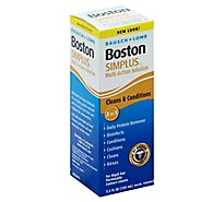 Bausch & Lomb Boston Simplus Multi-Action Solution Cleans & Conditions - 3.5 Fl. Oz.