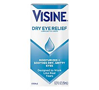 VISINE Tears Eye Drops Lubricant Dry Eye Relief - 0.5 Fl. Oz.