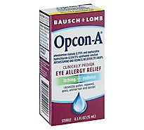 Bausch & Lomb Allergy Relief Opcon-A Eye - 0.5 Fl. Oz.
