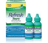Refresh Tears Lubricant Eye Drops Moisturizing Relief For Dry Eyes - 2-0.5 Fl. Oz.