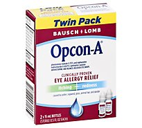 Bausch + Lomb Allergy Itching And Redness Reliever Eye Drops Twin Pack - 2-0.5 Fl. Oz.