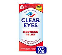 Clear Eyes Eye Drops Redness Relief - 0.5 Fl. Oz.