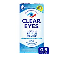 Clear Eyes Eye Drops Lubricant/Redness Reliever Triple Action Relief - 0.5 Fl. Oz.