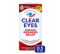 Clear Eyes Eye Drops Redness Relief Maximum - 0.5 Fl. Oz.