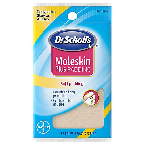 Dr. Scholls Moleskin Plus Padding - 3 Count
