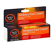 Signature Care Athletes Foot Cream Clotrimazole 1% Antifungal - 1 Oz