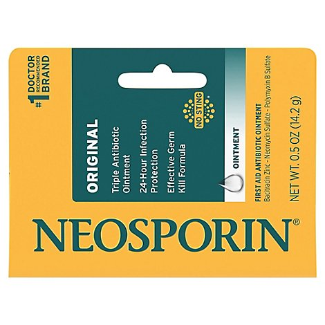 Neosporin Ointment First Aid Antibiotic Original - 0.5 Oz