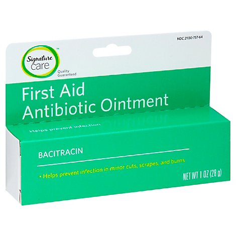 Signature Care Ointment Antibiotic First Aid Bacitracin - 1 Oz
