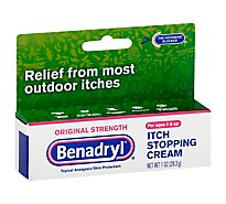 Benadryl Itch Stopping Cream Original Strength - 1 Oz