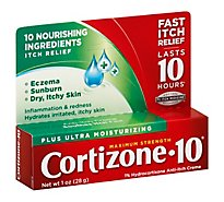 Cortizone 10 Anti-Itch Creme Maximum Strength Plus Ultra Moisturizing - 1 Oz