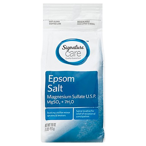 Signature Care Epsom Salt Magnesium Sulfate USP - 16 Oz