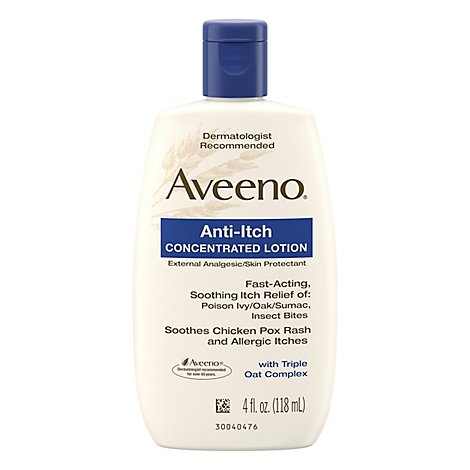 Aveeno Active Naturals Lotion Anti Itch Concentrated - 4 Fl. Oz.