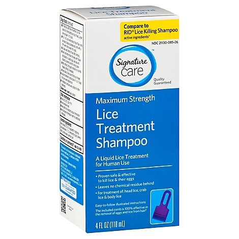Signature Care Shampoo Lice Treatment Maximum Strength - 4 Fl. Oz.