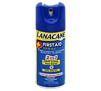 LANACANE First Aid Spray 2 In 1 Fast Acting Pain Relief + Kill Germs - 3.5 Oz