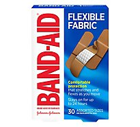 BAND-AID Brand Adhesive Bandages Flexible Fabric Assorted Sizes - 30 Count