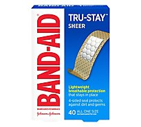 Band-Aid Adhesive Bandages Comfort Flex Sheer One Size - 40 Count