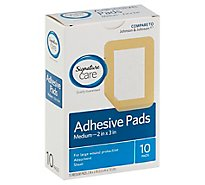 Signature Care Adhesive Pads Medium Absorbent Sheer - 10 Count