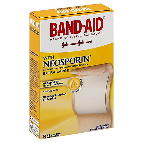 BAND-AID Brand Adhesive Bandages Plus Antibiotic Extra Large - 8 Count