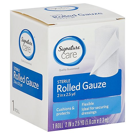Signature Care Gauze Rolled Sterile Flexible 2in x 2.5yd - Each