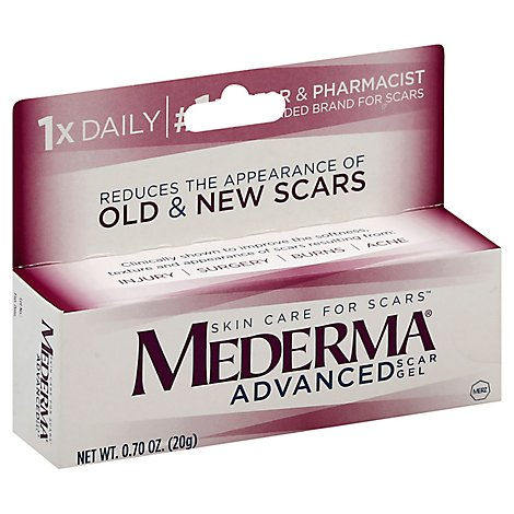 Mederma Skin Care For Scars Scar Gel Advanced - 0.7 Oz