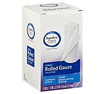 Signature Care Gauze Rolled Sterile Flexible 3in x 2.5yd - Each