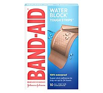 BAND-AID Brand Adhesive Bandages Tough Strips Waterproof Extra Large - 10 Count