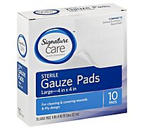 Signature Care Gauze Pads Sterile Large - 10 Count