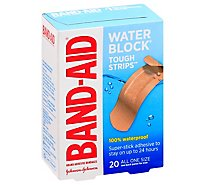 BAND-AID Brand Adhesive Bandages Tough Strips Waterproof All One Size - 20 Count