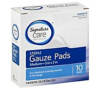 Signature Care Gauze Pads Sterile Medium - 10 Count