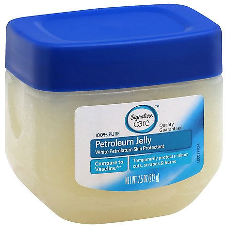 Signature Care Petroleum Jelly 100% Pure Skin Protectant - 7.5 Oz