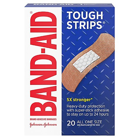 BAND-AID Brand Adhesive Bandages Tough Strips All One Size - 20 Count