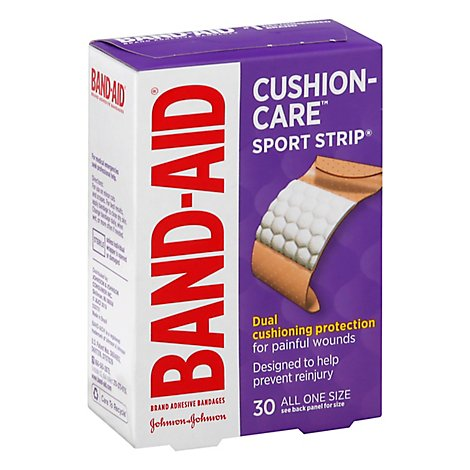BAND-AID Brand Adhesive Bandages Sport Strip Extra Wide - 30 Count