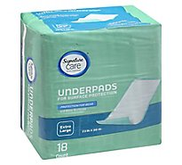 Signature Care Underpads Surface Protection Extra Large - 18 Count