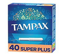 Tampax Tampons Cardboard Super Plus Absorbency - 40 Count