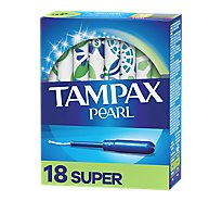 Tampax Pearl Tampons Plastic Super Absorbency Unscented - 18 Count