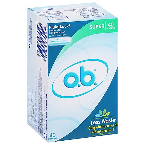 O.B. Super Tampons - 40 Count