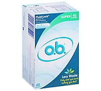 o.b. Original Tampons Digital Applicator Free Super Absorbency - 40 Count