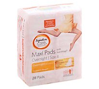 Signature Care Pads Maxi With Flexi Wings Overnight Absorbency - 28 Count