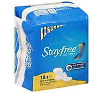 Stayfree Ultra Thin Pads With Wings Regular Absorbency - 18 Count