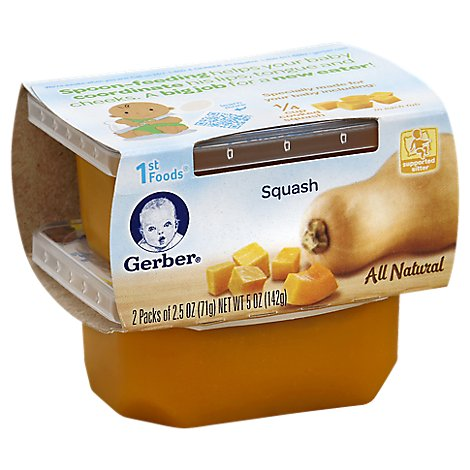 Gerber 1st Foods Baby Food Squash - 2-2.5 Oz