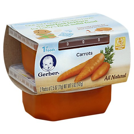 Gerber 1st Foods Baby Food Carrots - 2-2.5 Oz