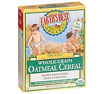 Earths Best Organic Cereal Oatmeal Whole Grain - 8 Oz
