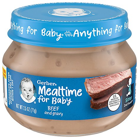 Gerber 2nd Foods Baby Food Beef & Beef Gravy - 2.5 Oz