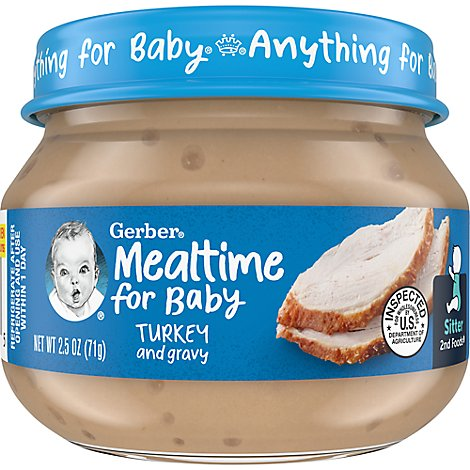 Gerber 2nd Foods Baby Food Turkey & Turkey Gravy - 2.5 Oz