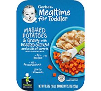 Gerber Mashed Potatoes & Gravy with Roasted Chicken and Carrots Tray 6.6 Oz