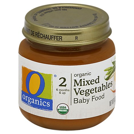 O Organics Organic Baby Food 2 (6 Months & Up) Mixed Vegetables - 4 Oz