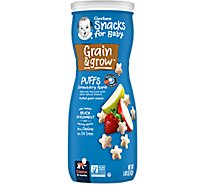 Gerber Graduates Puffs Strawberry Apple - 1.48 Oz