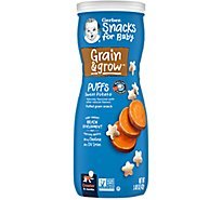 Gerber Graduates Puffs Cereal Snack Sweet Potato - 1.48 Oz
